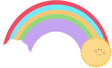 Sun and Rainbow Clip Art - Sun and Rainbow Image