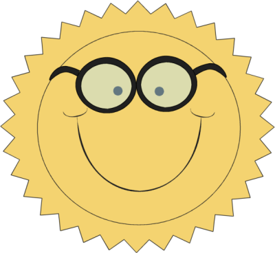 Sun Wearing Glasses
