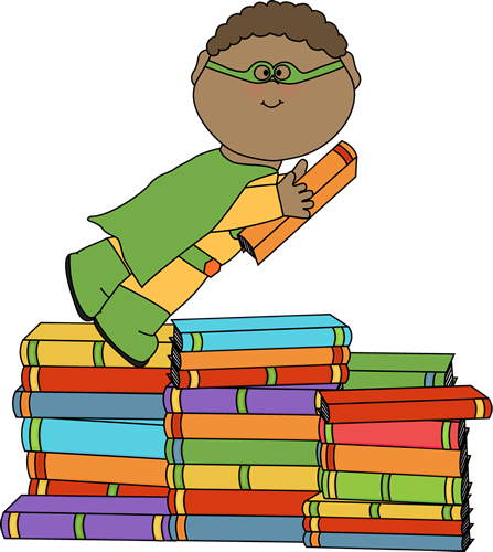 Boy superhero flying over books clip art boy superhero flying boy superhero flying over books voltagebd Image collections
