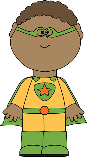little boy superhero clip art image little boy dressed as a superhero ...