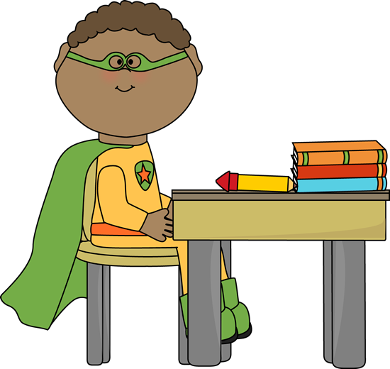Superhero in School