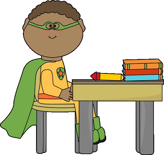Superhero in School