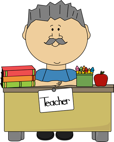 Male Teacher with Gray Hair