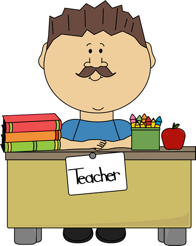 Teacher At Desk