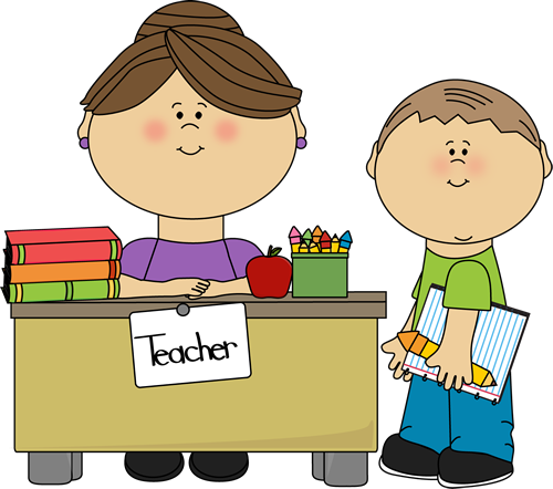 teacher and student clip art teacher and student vector