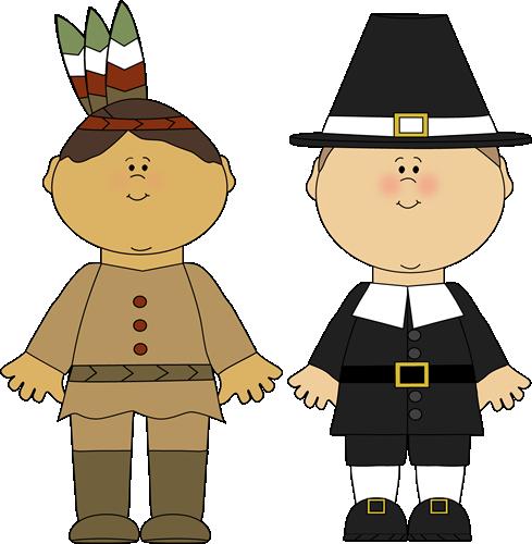 Indian Boy and Pilgrim Boy