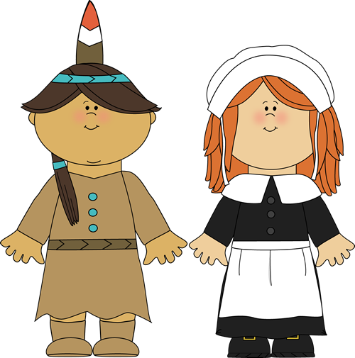 Indian Girl & Pilgrim Girl