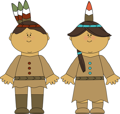 Native American Indian Boy And Girl