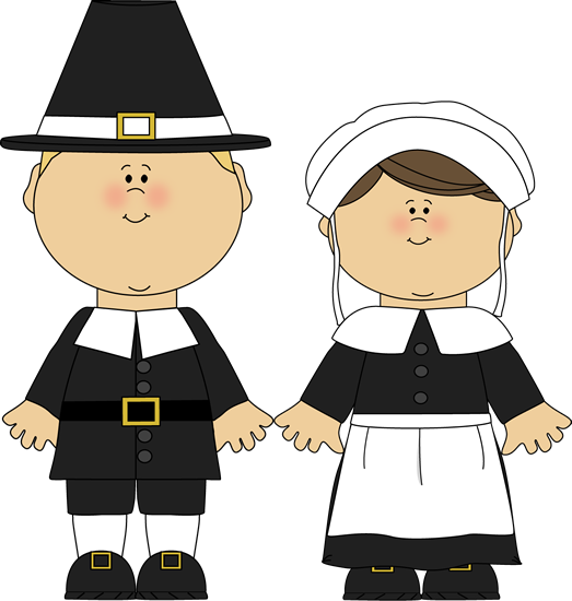 Pilgrim Boy And Girl Clip Art