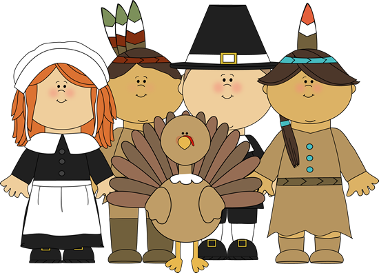 Pilgrims and Indians and a Turkey