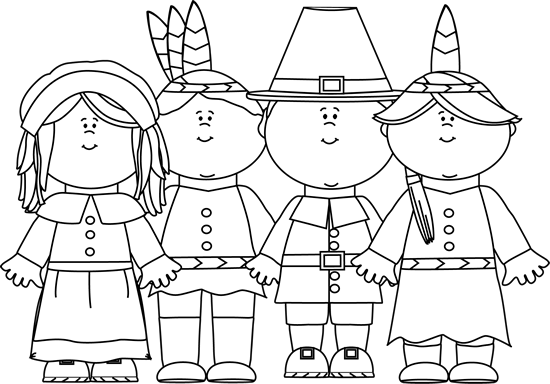black and white indians and pilgrims clip art black and white rh mycutegraphics com thanksgiving indian clipart Feast Clip Art