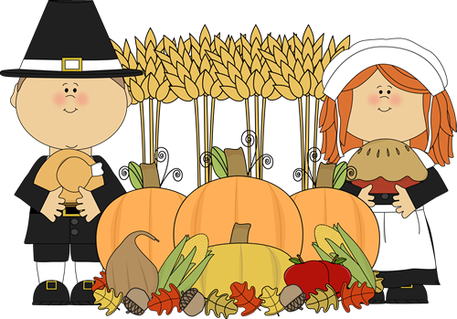 Pilgrims and Thanksgiving Harvest