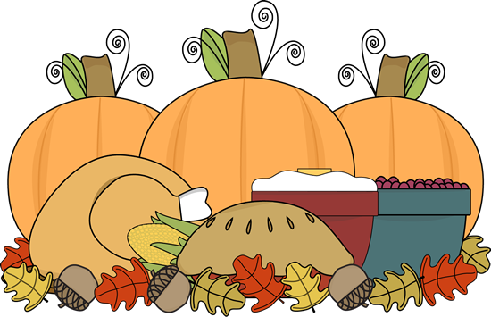 Image result for clipart of a thanksgiving feast