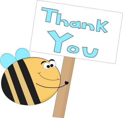 Bee Thank You Sign