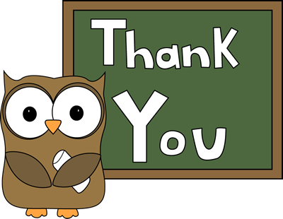 Clip Art Thanks Clip Art thank you clip art images owl chalkboard you