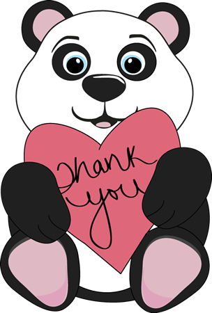 Panda Bear Thank You Image Panda Bear Thank You Clip Art