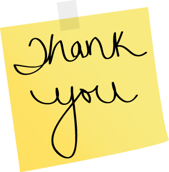 "... Note Thank You - yellow sticky note with the words ""Thank You"" on it"