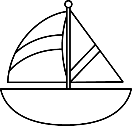 Black and White Striped Sailboat