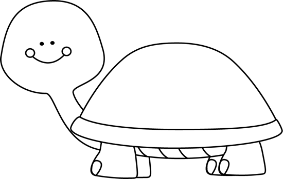 Black and White Blank Turtle