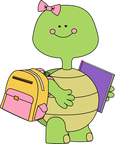Clip Art Cute School Clipart turtle clip art images going to school
