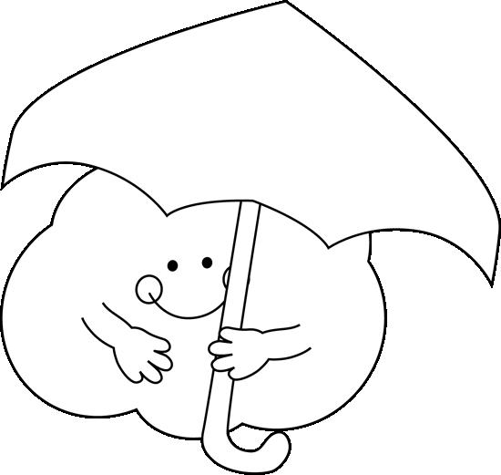 Black and White Cloud Under an Umbrella