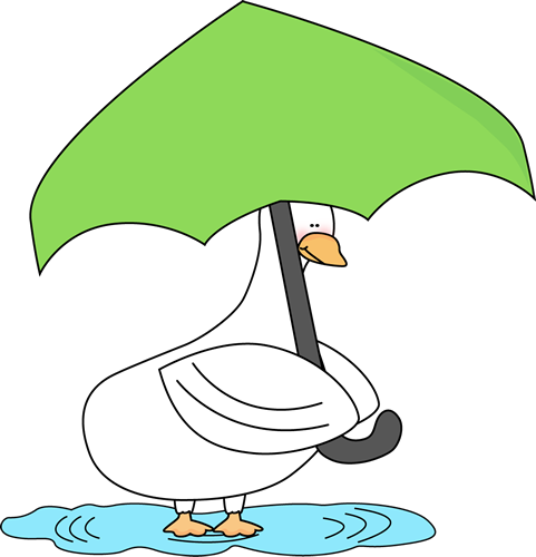 Duck Under Umbrella