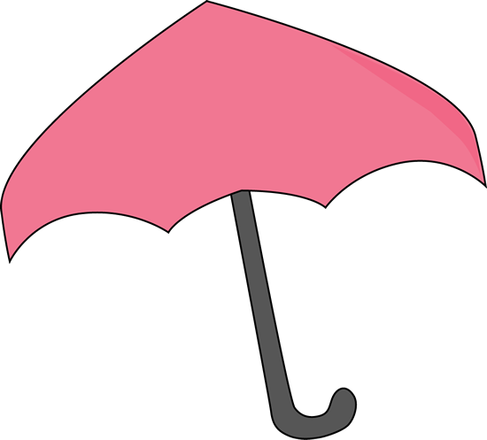 Pink Umbrella Clip Art - Pink Umbrella Image