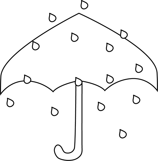 Black and White Rain Umbrella