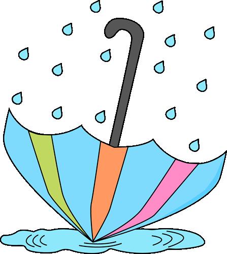 Umbrella in a Rain Puddle