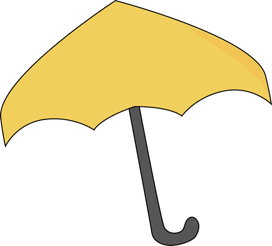 Yellow Umbrella Clip Art - Yellow Umbrella Image