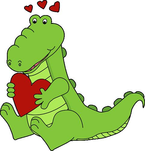 Alligator Valentine's Day Love