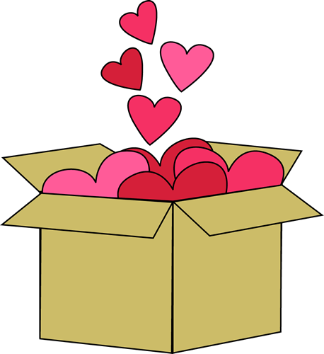 Box of Valentine Hearts