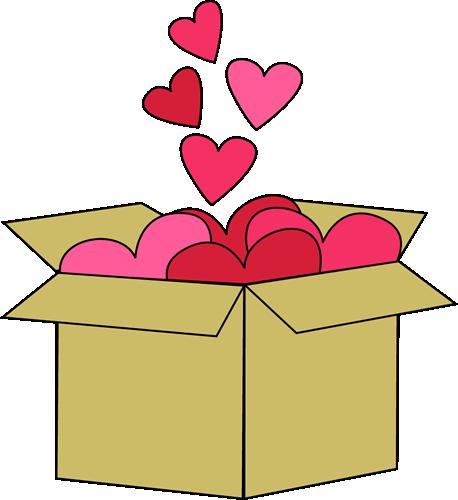 Box of Valentine Hearts