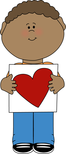 Boy with Valentine Heart Drawing