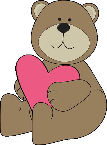 Brown Bear Hugging a Heart