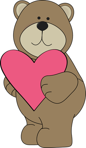 Brown Bear Valentine Heart