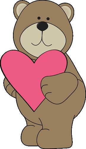 Brown Bear Valentine Heart Clip Art - Brown Bear Valentine Heart Image