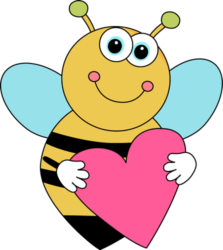 Cartoon Valentine's Day Bee
