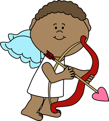 Cupid Aiming Arrow Clip Art