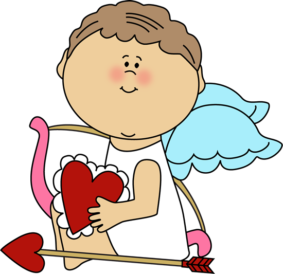 Cupid Holding a Valentine Heart