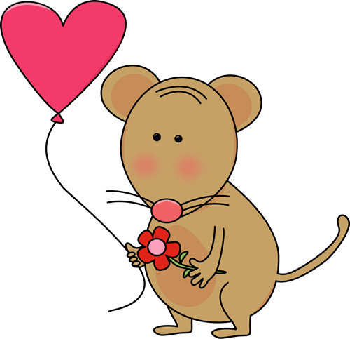 Cute Valentine's Day Mouse