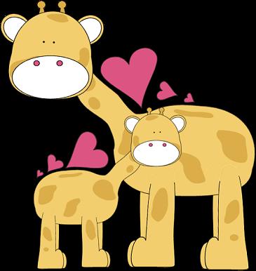Giraffe Love Clip Art - Giraffe Love Image