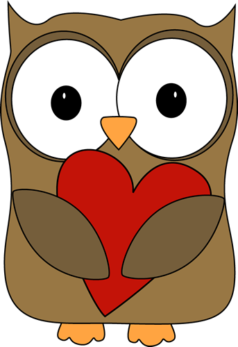Owl Hugging a Heart