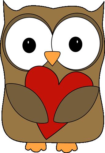 Owl Hugging a Heart
