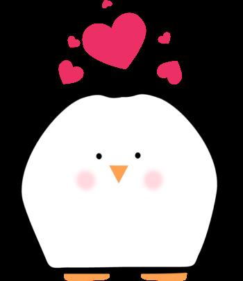 Penguin Valentine Hearts