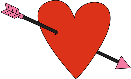 Red Valentine's Day Heart and Arrow