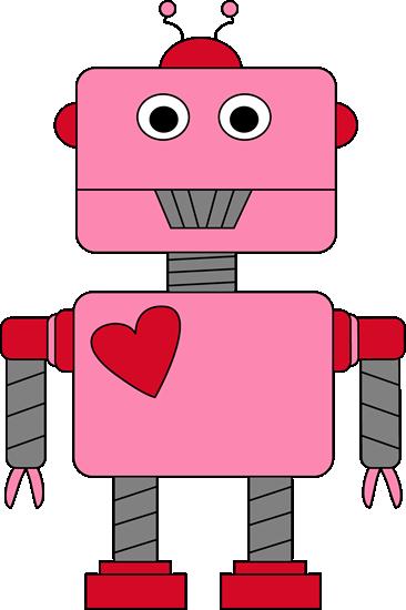 Robot Valentine's Day Clip Art