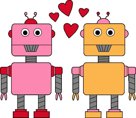 Robot Love Valentine Clip Art - Robot Love Valentine Image