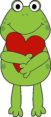 valentine frog - Clip Art Valentines