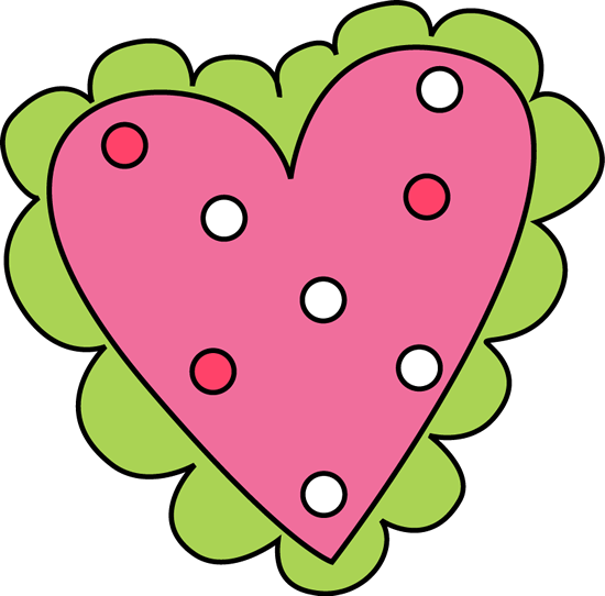 Pink and Green Valentine's Day Heart